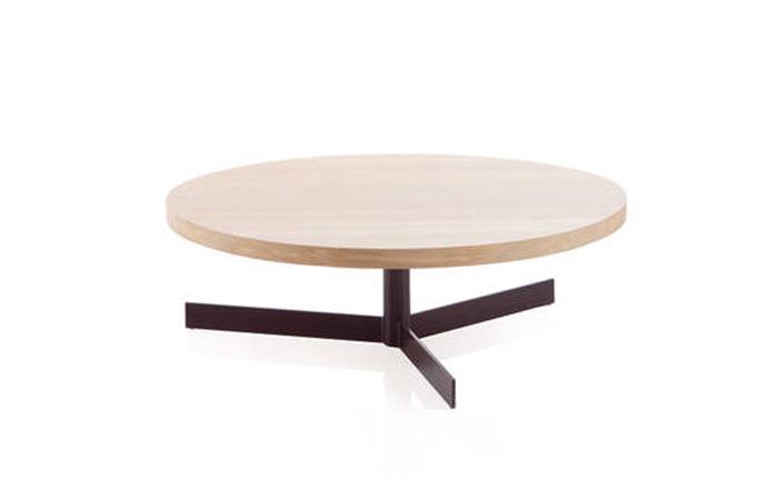 Mesa centro en madera y metal