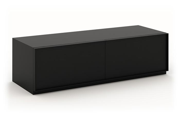 Mueble TV lacado en negro