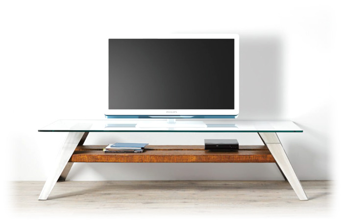 Muebles de Madera y Acero Mueble tv en Acero